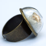 Large glass dome ring with shredded money - Amy Jewelry  - 13