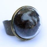 Large glass dome ring with coffee - Amy Jewelry  - 2