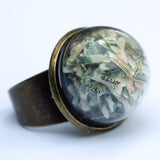 Large glass dome ring with coffee - Amy Jewelry  - 10