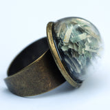 Large beach glass dome ring - Amy Jewelry  - 5