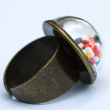 Large glass dome ring with cake sprinkles - Amy Jewelry  - 2