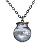 Small glass ball beach pendant - Amy Jewelry  - 3