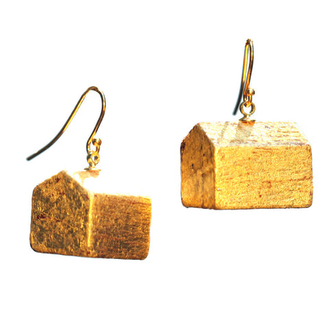 Gold leaf hotel earrings