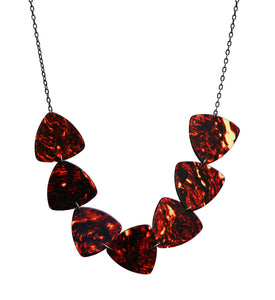 Guitar pick long link necklace - Amy Jewelry
