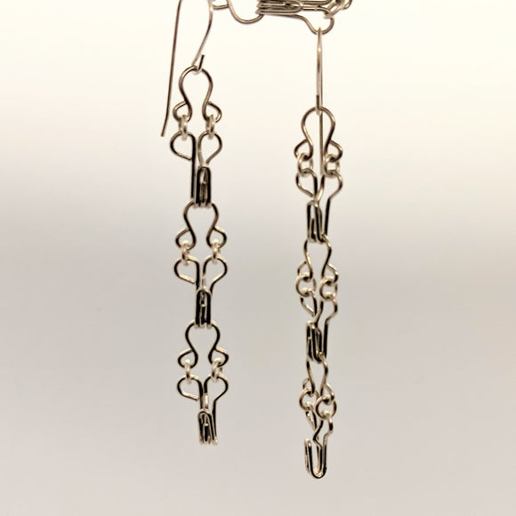 Hook and eye earrings