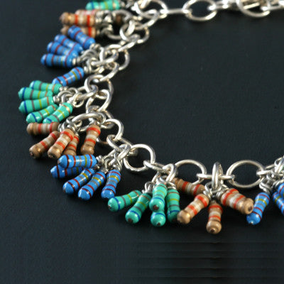 Resistor cluster anklet - Amy Jewelry
