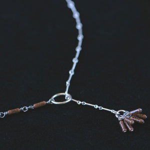 Brown resistor Y necklace - Amy Jewelry