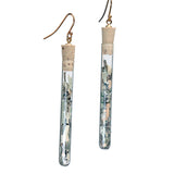 Shredded money test tube earrings - Amy Jewelry  - 1