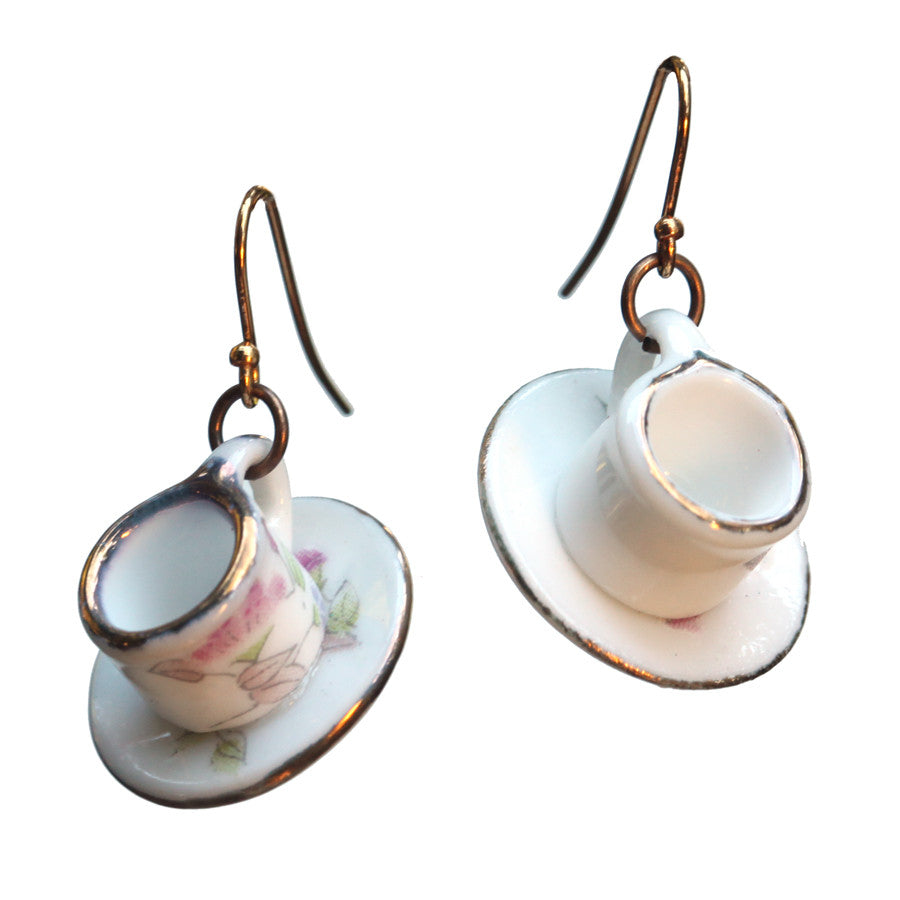 Tea cup earrings - Amy Jewelry  - 1
