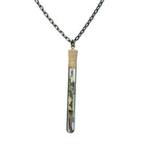 Mica test tube pendant on steel chain - Amy Jewelry  - 3