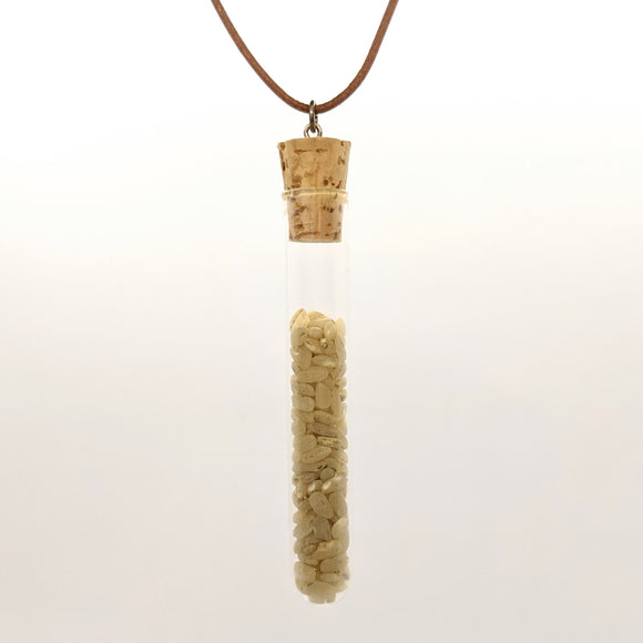 Large rice test tube pendant