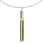 Shredded money test tube pendant on steel cable - Amy Jewelry  - 3