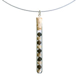 Shredded money test tube pendant on steel cable - Amy Jewelry  - 7