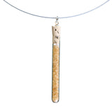Shredded money test tube pendant on steel cable - Amy Jewelry  - 6