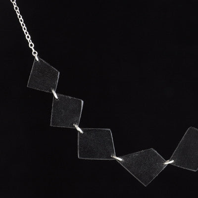 Seven-link vinyl record necklace - Amy Jewelry