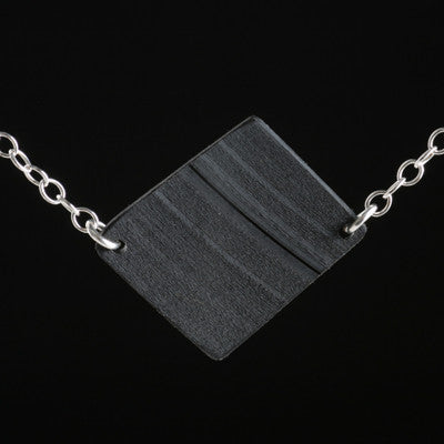 Single-link vinyl record necklace - Amy Jewelry