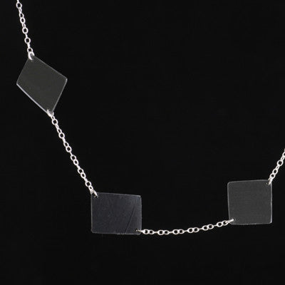 Vinyl record spaced necklace