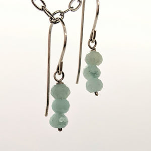 Aqua stone bead earrings
