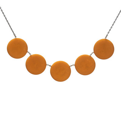 Vintage bakelite poker chip link necklace - Amy Jewelry