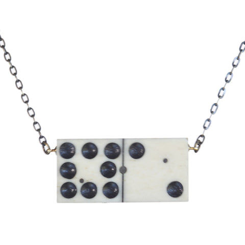 Horizontal antique domino necklace