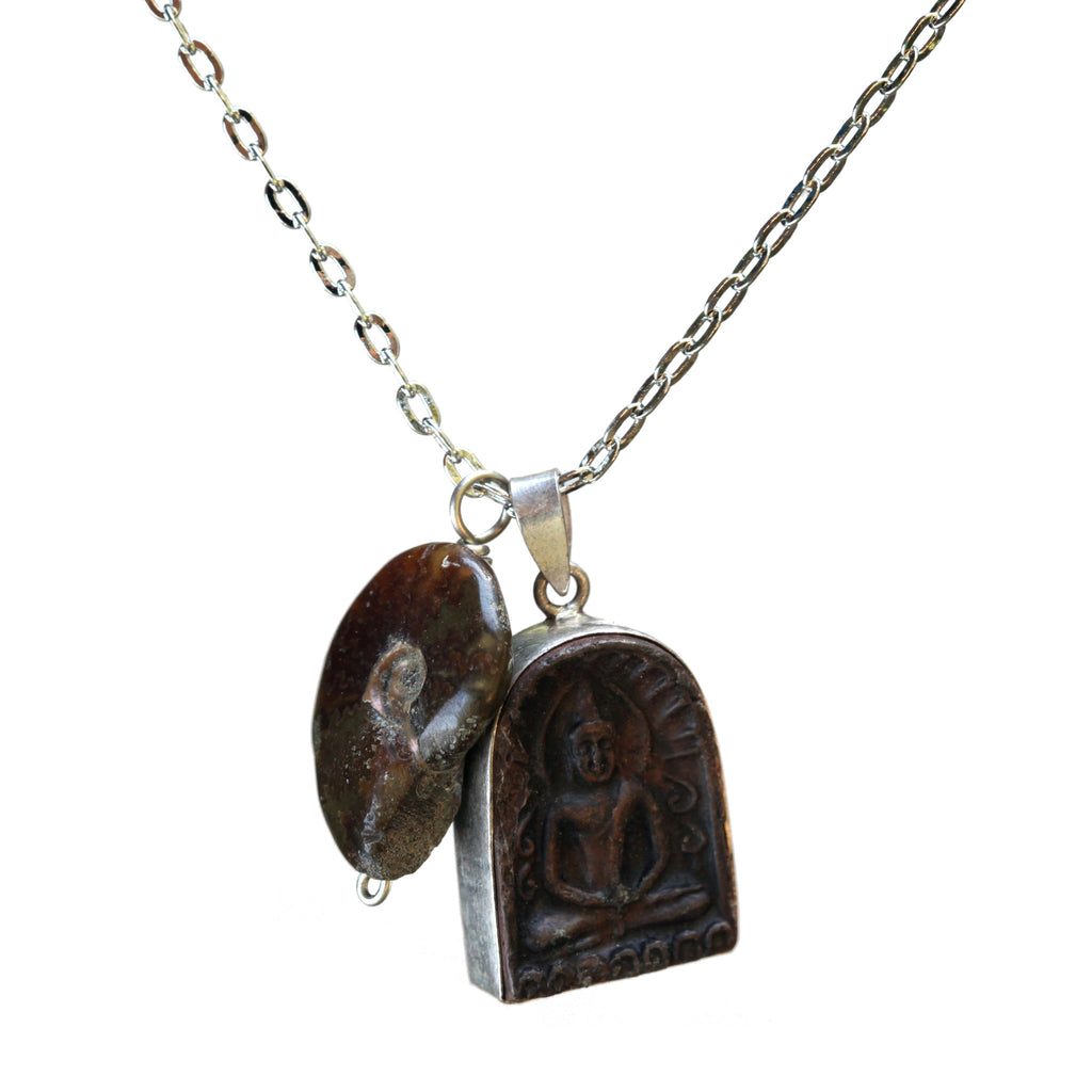 Buddha-ammonite necklace - Amy Jewelry