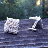 Photo of silver-plated carpet cuff links