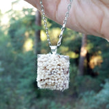 Photo of silver-plated carpet pendant hanging