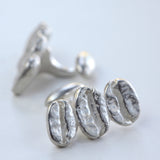 Coffee bean cuff links - Amy Jewelry  - 1