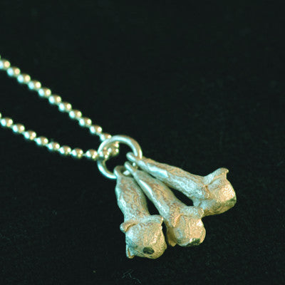 Sterling silver clove pendant