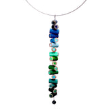 Colored pencil long pendant on steel cable - Amy Jewelry  - 5