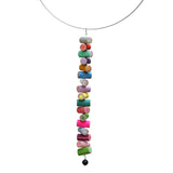 Colored pencil long pendant on steel cable - Amy Jewelry  - 7
