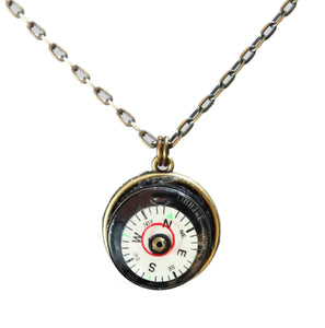 Compass level necklace with brass chain - Amy Jewelry