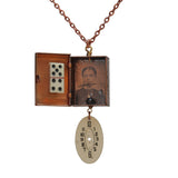 Copper box with watch face, domino and tintype - Amy Jewelry  - 1