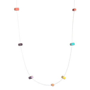 Colored pencil spaced cable necklace - Amy Jewelry