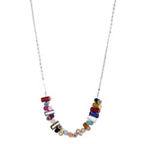 Long colored pencil stacked necklace - Amy Jewelry  - 2