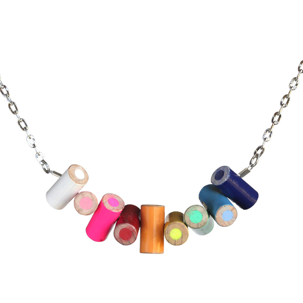 Colored pencil horizontal necklace - Amy Jewelry