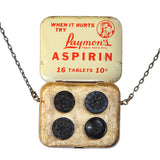 Dime-Lax medicine-tin necklace - Amy Jewelry  - 2