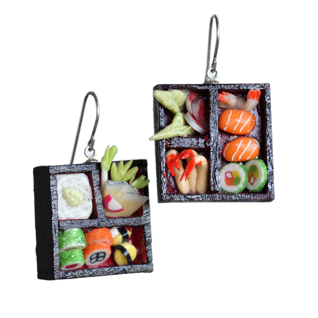 Dollhouse sushi earrings - Amy Jewelry