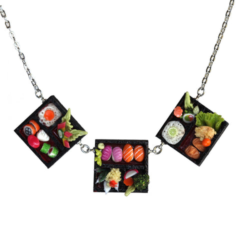 Dollhouse sushi triple necklace