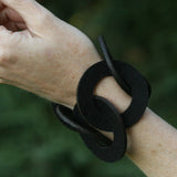 Wool felt six-ring bracelet - Amy Jewelry  - 2