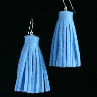 Wool felt tassel earrings
