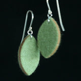 Wool felt single-leaf earrings - Amy Jewelry  - 2