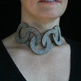 Wool felt five-ring necklace - Amy Jewelry  - 2