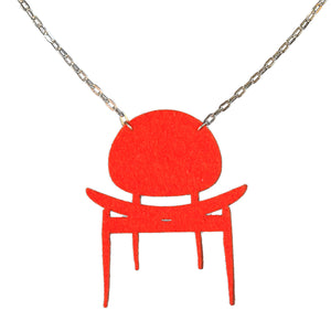 Wool felt dining chair necklace - Amy Jewelry