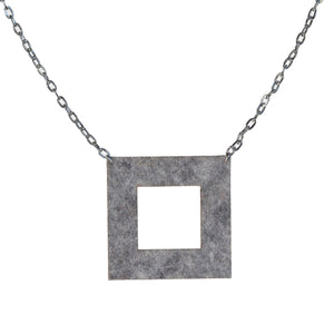 Wool felt square necklace - Amy Jewelry