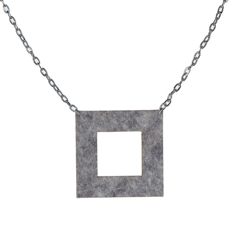 Wool felt square necklace