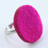 Large felt circle ring - Amy Jewelry  - 1