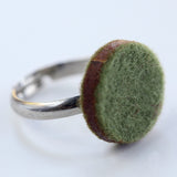 Small felt circle ring - Amy Jewelry  - 1