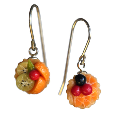 Fruit tart earrings
