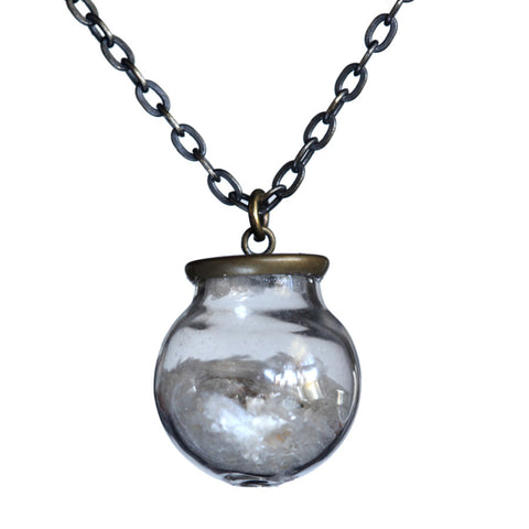 Small glass ball mica pendant